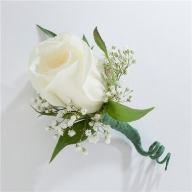 Single white rose boutonniere 1 800 flowersconroys torrance single white rose boutonniere mightylinksfo